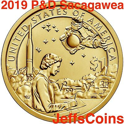 2019 PDS SACAGAWEA NATIVE AMERICAN Indians The Space Program P D S PROOF Dollars 6