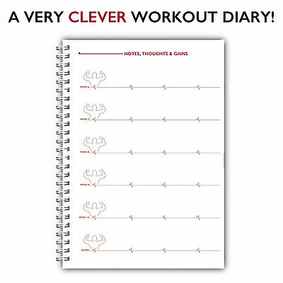 a5 personalised weight training log book gym diary workout journal
