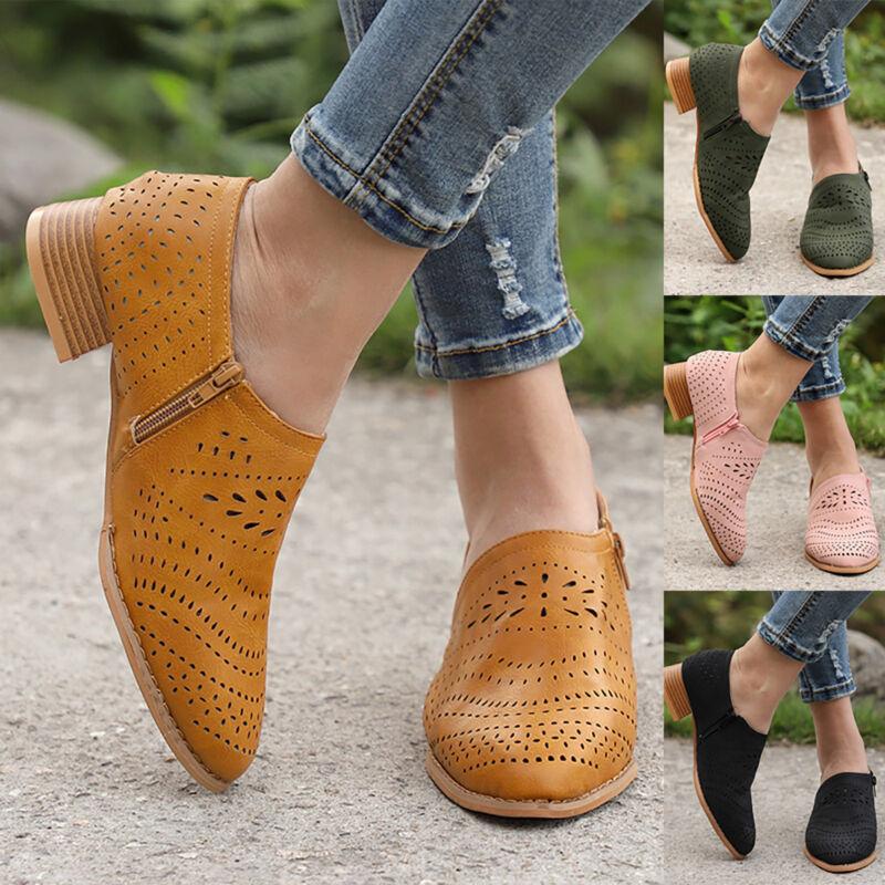 Details zu Damen Ankle Boots Stiefeletten Blockabsatz Halbschuhe Schnürer 830316 Schuhe