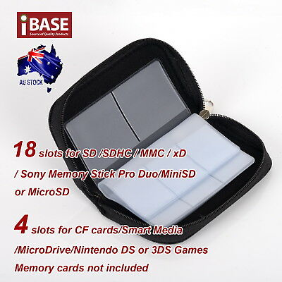 Memory Card Storage Carrying Pouch Case Holder SD SDHC CF Micro TF Wallet Bag 3