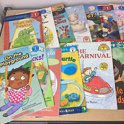 Lot of 10 Level 1~RL~Ready to-I Can Read-Step into Reading-Learn Read Books MIX 6