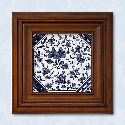 Antique Tile Victorian Aesthetic Japonesque Floral International Tile Delft Blue 12