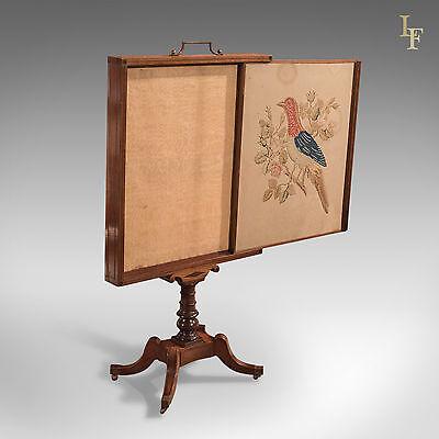 Antique Tapestry Display Stand, Regency Mahogany Needlepoint English circa 1830 4