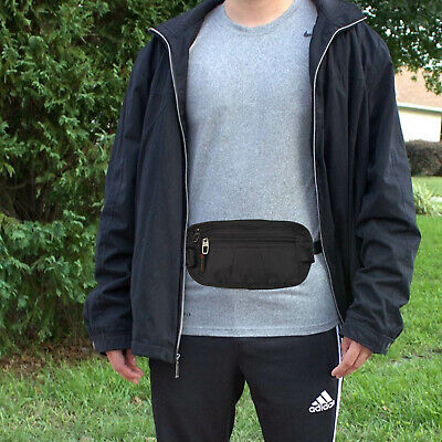 Slim Design Bumbag RFID Running Belt Water-proof Adjustable Waist Bag Travelling 11