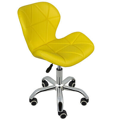 Cushioned Computer Desk Office Chair Chrome Legs Lift Swivel Small Adjustable 11