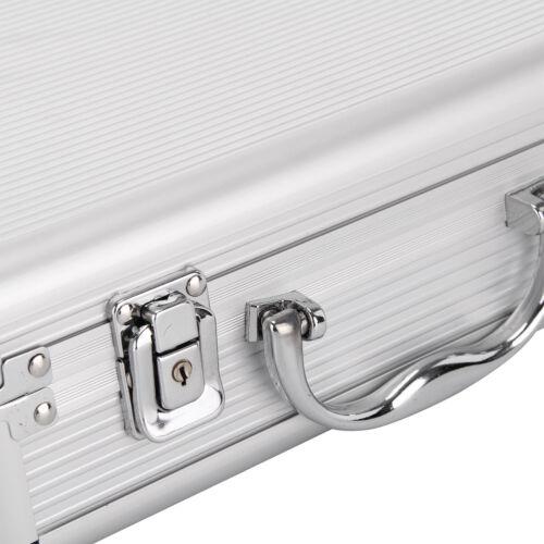 Aluminium Pistol Gun Case Storage Lockable Flight Case Foam Tool Box Secured UK 8