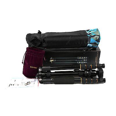 ZOMEI Q666 Portable Professional Tripod&Ball Head Travel for Canon DSLR Camera 8