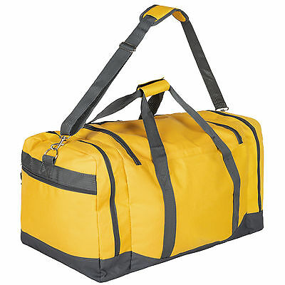 Sac de sport fitness football randonnée voyage transport 90L 70x35x35cm jaune 3
