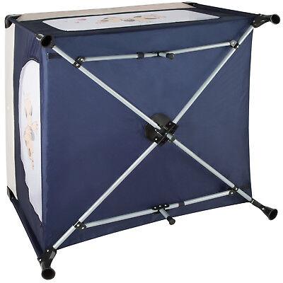 Box per gioco e nanna lettino da viaggio reticolato campeggio bambini bebé blu 7
