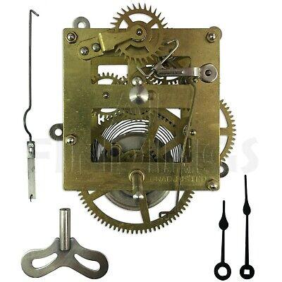 New 8 days large mantle clock movement replacement pendulum hands strike repair 3