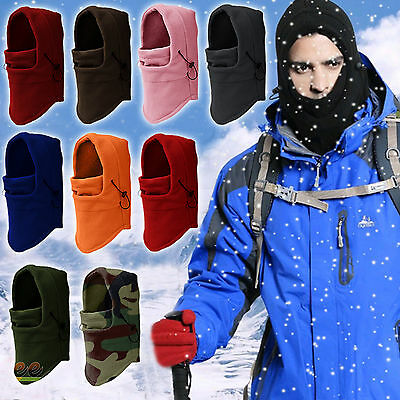 Winter Warm 6 in1 Fleece Thermal Balaclava Hood Swat Ski Cycling Face Mask Cap