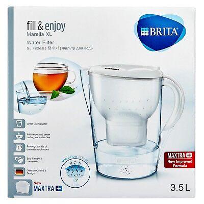 BRITA Marella Water Filter Jug 3.5L & 5 MAXTRA+ Filters (1 bonus filter included 9