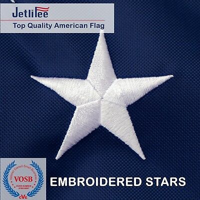 3x5 Ft American Flag  Embroidered Stars Sewn Stripes Grommets Nylon US U.S. 3