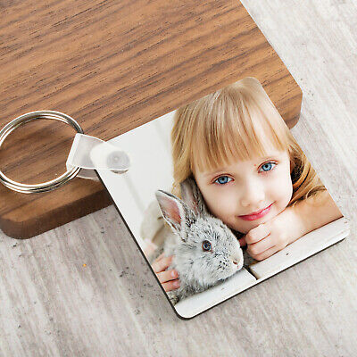 Personalised Photo Keyring Any Picture Custom Keychain Double-Single Side Print 3