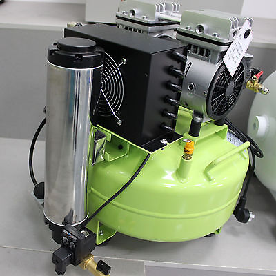 24L Dental Oil Free Oilless Noiseless Air Compressor with Air Dryer 118L/min 3