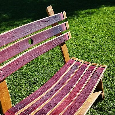 Pleasant Wine Barrel Small Garden Bench Rustic Furniture Home Decor Dailytribune Chair Design For Home Dailytribuneorg
