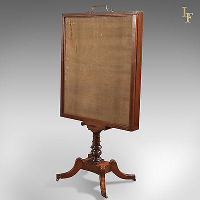 Antique Tapestry Display Stand, Regency Mahogany Needlepoint English circa 1830 6