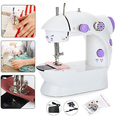 Portable Electric Sewing Machine Overlock 2 Speed LED Mains Powered Foot Pedal 3
