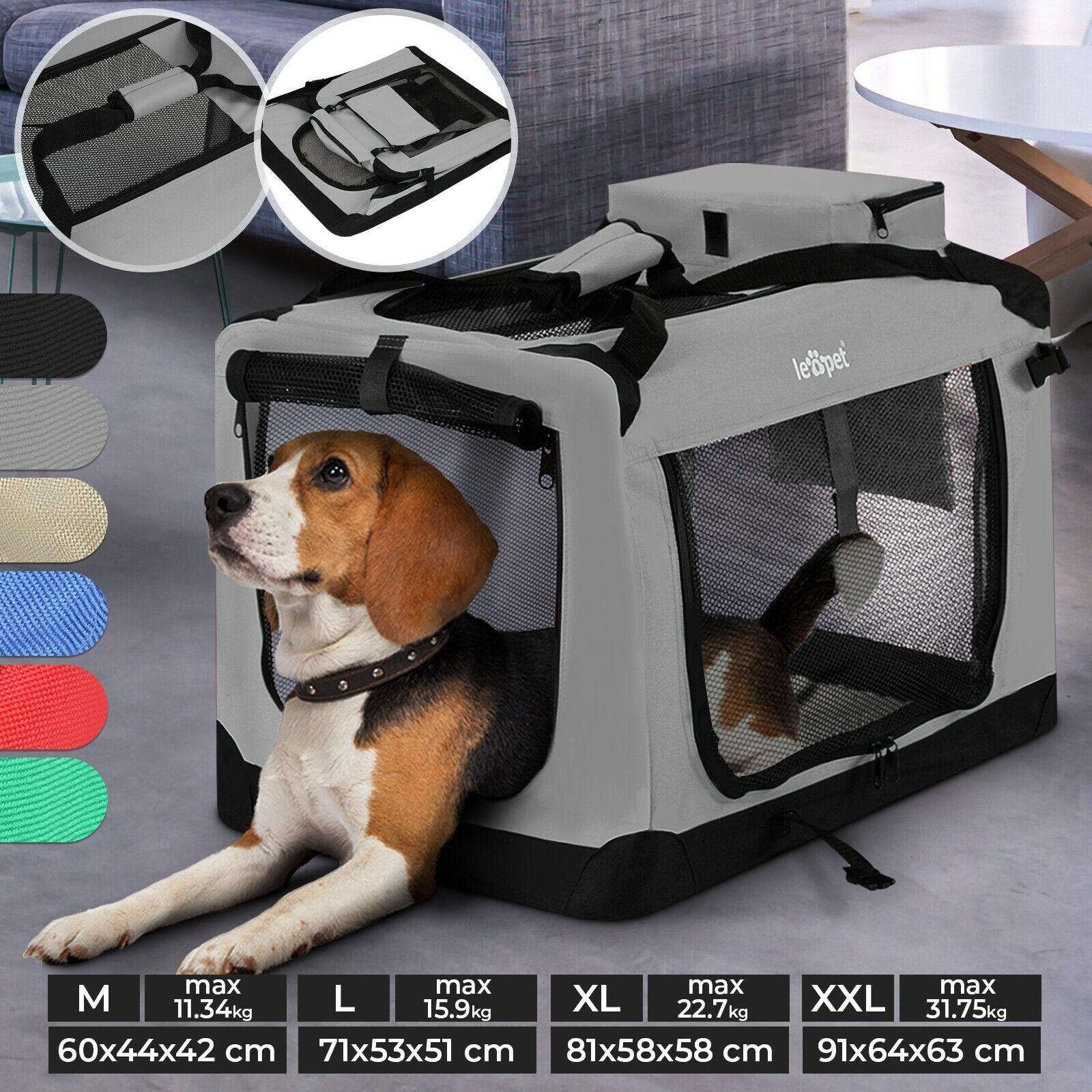 Hundebox faltbar Hundetransportbox Auto Hundetasche Hundetransporttasche 6