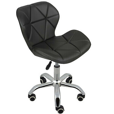 Cushioned Computer Desk Office Chair Chrome Legs Lift Swivel Small Adjustable 6