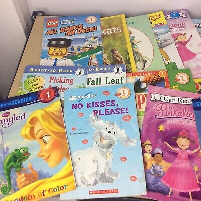 Lot of 10 Level 1~RL~Ready to-I Can Read-Step into Reading-Learn Read Books MIX 10
