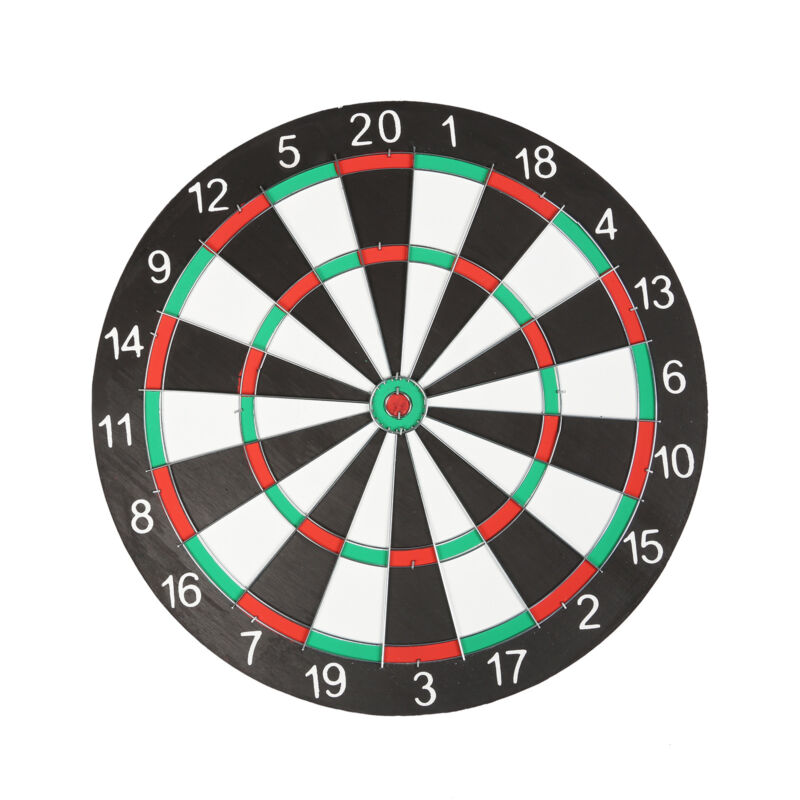 "Large 14"" Dart Board Set Dartboard Family Party Game Fun With 6 Darts UK Seller 4"