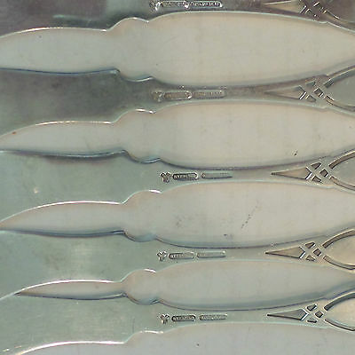"""Set/5 Rogers, Lunt & Bowlen Solid Sterling Silver """"Moticello"""" Butter Spreaders 6"""