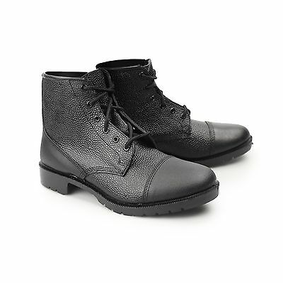 Grafters SHERMAN Mens Ladies NON-SAFETY Leather Thinsulate Work Boots Black