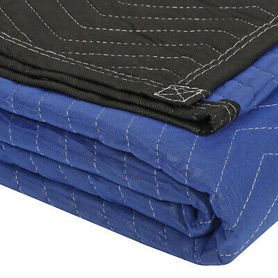 "12 Pack Moving Blankets 80"" x 72"" Pro Economy - Black Shipping Furniture Pads 6"