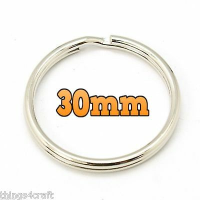 Split Rings Key Ring - 15mm 20mm 25mm 30mm 35mm - Pack Size 10 to 1000 - keyring 8