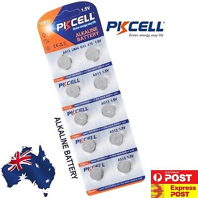 10X AG13 1.5v LR44 G13 LR44 A76 GP76A 357 Alkaline Button Coin Battery Sydney 2