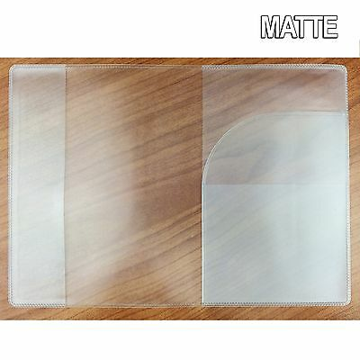 Matte Transparent Passport Cover Protector Travel Clear Holder Organiser Wallet 5