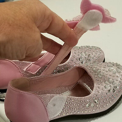 GIRLS PARTY SHOES - size 29 Pink with lots and lots of Crystals - Velcro Fasten 5