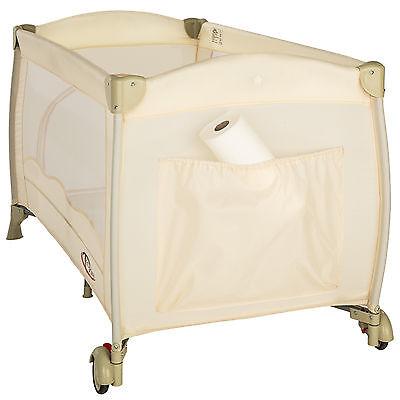 Lettino da viaggio per bambini bambino bimbo portatile box culla beige nuovo 5