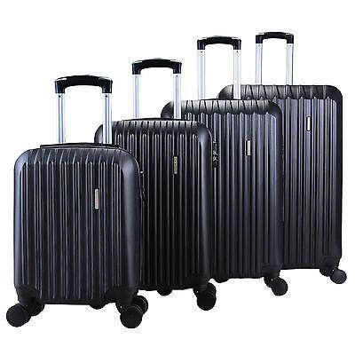 4Pcs Luggage Travel Set Bag ABS Trolley Spinner Carry On Suitcase TSA Lock Black 9