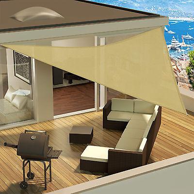 sonnensegel uv schutz garten sonnenschutz sonnendach windschutz dreieck 4x4x4 m eur 21 99. Black Bedroom Furniture Sets. Home Design Ideas