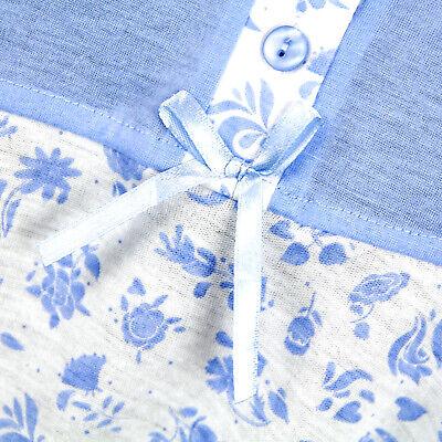 Camicia da notte donna primavera autunno in cotone fiori farfalle 0DPCAM009