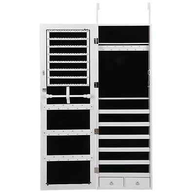 Wall/ Door Mounted Jewelry Cabinet Armoire Large Jewelry Box Organizer w/ Mirror 3