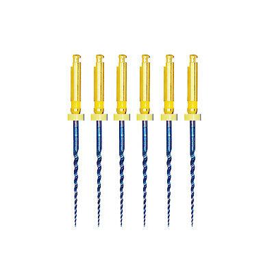 6Pcs/box Blue Dental Heat Activated Niti Endodontic Root Canal Files 25mm Mixed 11