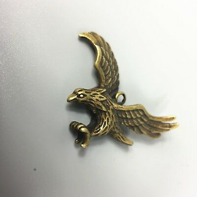 Antique Collectible Brass Handwork Flying Eagle Exquisite Pendant /Statue 5