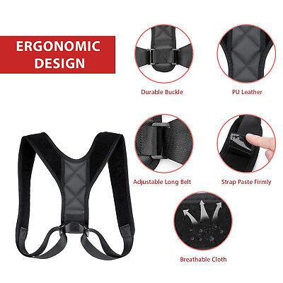 Adjustable Back Posture Corrector Clavicle Spine Shoulder Lumbar Brace Support 5