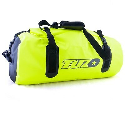 50L Motorcycle Luggage Duffel Holdall Waterproof Roll Shut Bag Flo Yellow 2