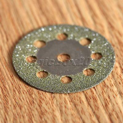10pcs Circular Saw Blades Diamond Cutting Wheel Discs + Mandrel For Rotary Tool 8