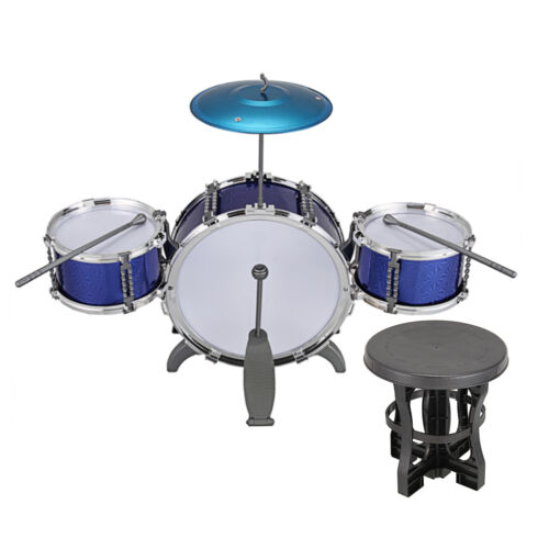 Blue / Red Junior Drum Kit For Kids - 3/5/6 Drum Set with Stool Childrens choose 6