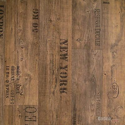 PVC Bodenbelag Rustikal Dunkel mit Aufdruck Presto 549 Breite 3 m - 1m²/11,90 € 2