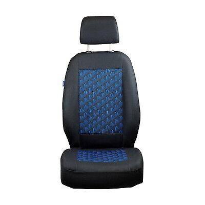 Schwarz-blau Effekt 3D Sitzbezüge für TOYOTA AYGO Autositzbezug VORNE