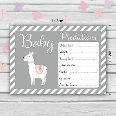 Baby Shower Game - 30 BABY PREDICTION /ADVICE /WISHES CARDS with KEEPSAKE POUCH 4