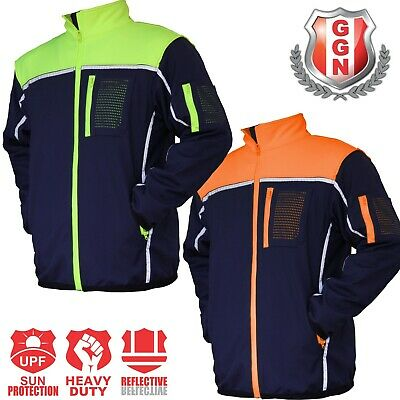 HI VIS Safety Jacket Soft Shell Windproof Work Wear Reflective bomber flying 5