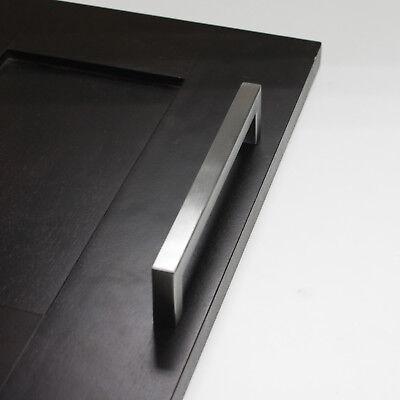 Stainless Steel Kitchen Cabinet Handles Square Door Knobs Cupboard Drawer Pulls 3