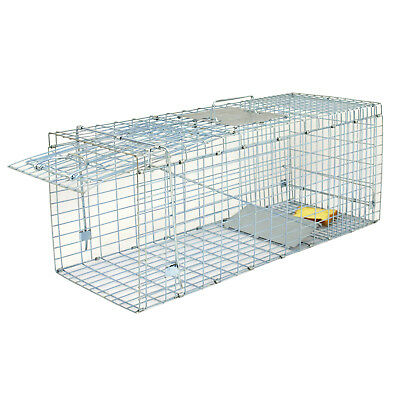 32'' Humane Live Animal Trap 1 Door Rodent Cage for Rabbits Cat Raccoon Squirrel 6